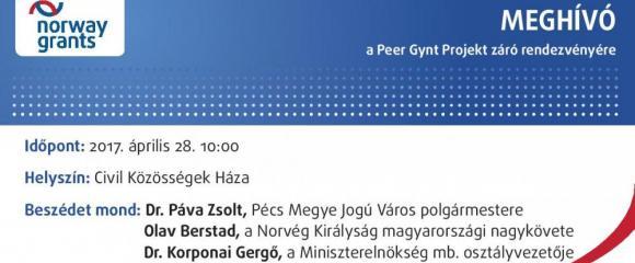 Meghívó a Peer Gynt Projekt Záró Konferenciájára