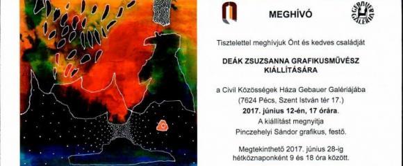 Deák Zsuzsanna grafikusművész kiállítása