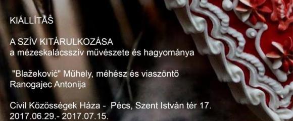 """""""A  SZÍV KITÁRULKOZÁSA - A mézeskalácsszív művészete és hagyománya"""" horvát kiállítás"""